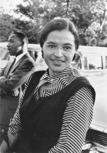 "Photograph of Rosa Parks with Dr. Martin Luther King jr. (ca. 1955) Original caption reads: ""Mrs. Rosa Parks altered the negro progress in Montgomery, Alabama, 1955, by the bus boycott she began. National Archives record ID: 306-PSD-65-1882 (Box 93)."" Source: Ebony Magazine Source: USIA / National Archives and Records Administration Records of the U.S. Information Agency Record Group 306 This work was obtained from the now defunct United States Information Agency. In 1999 the agency was merged into the Bureau of Public Affairs which is the part of the United States Department of State. This work is in the public domain in the United States because it is a work of the United States Federal Government under the terms of 17 U.S.C. § 105. Source: https://en.wikipedia.org/wiki/File:Rosaparks.jpg"