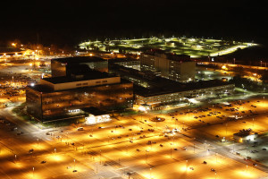 NSA Headquarters in Fort Meade, Maryland. NSA photo by Trevor Paglen (public domain) http://bit.ly/1nr2UGY